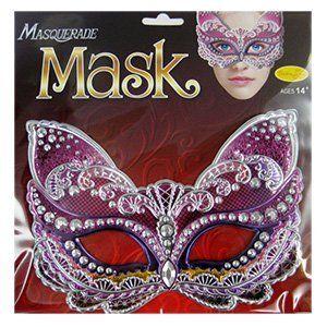 Карнавальная маска Кошка розовая