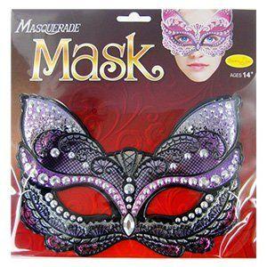 Карнавальная маска Кошка фиолетовая
