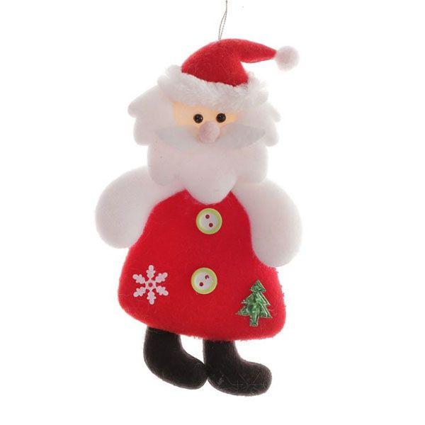Подвеска мягкая Дед Мороз 7 х 15см
