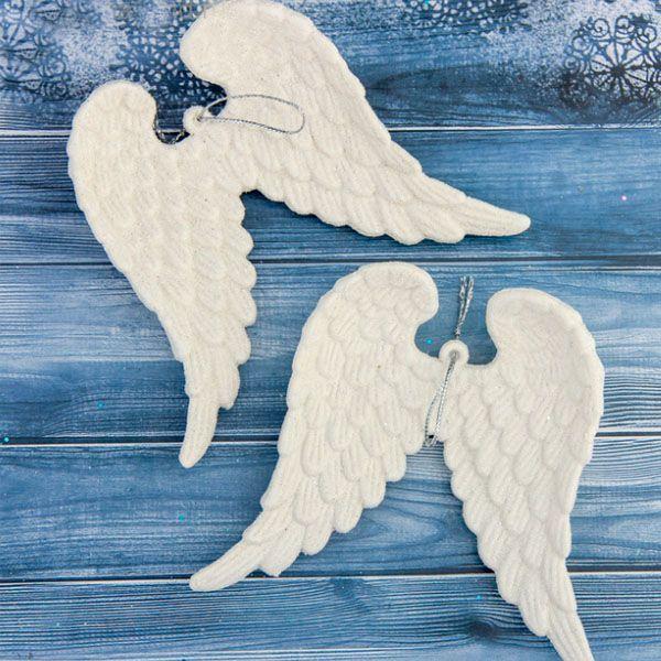 Украшение елочное Крылья ангела блеск 2шт 9,5 х 12см