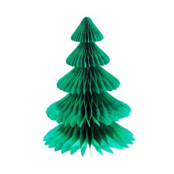 """Новогоднее бумажное украшение """"Складная елочка"""", 28 см"""