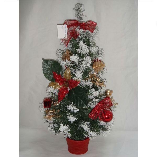 """Новогодняя елка """"Заснеженная"""" с шарами и бантами, 60 см"""