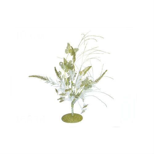 Новогодняя украшенная ель, золотая, 40 см