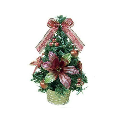 Новогодняя украшенная елка, 20 см