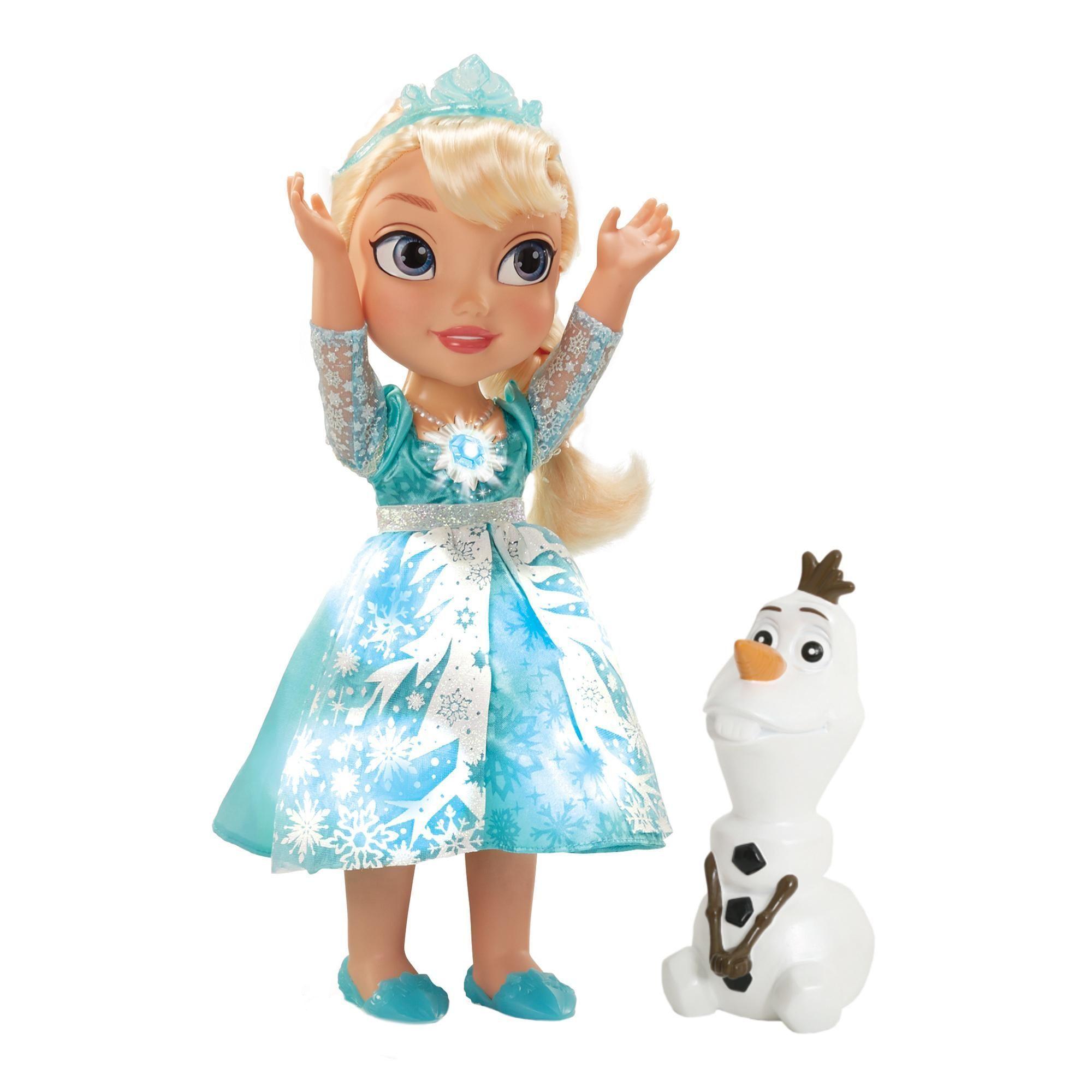 """Поющая кукла-малышка Эльза со снеговиком """"Холодное сердце"""""""