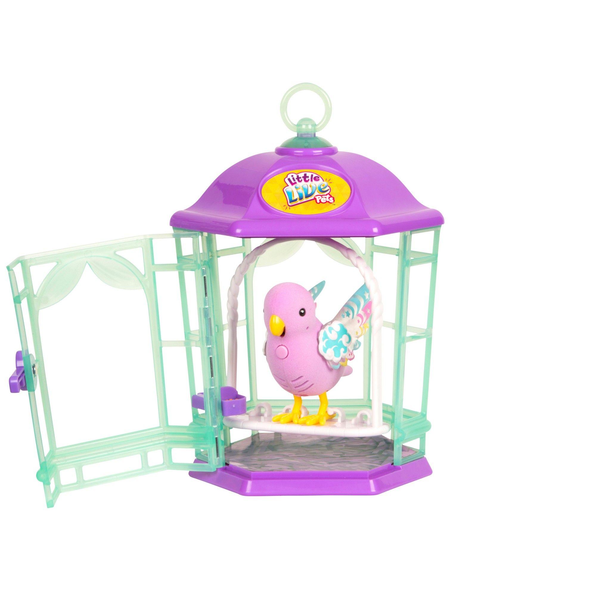 Птичка Little Live Pets в клетке - Радужный свет