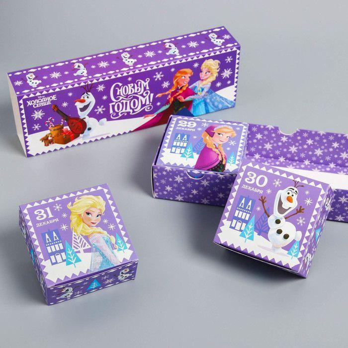 """Коробка складная """"С Новым годом!"""", Холодное сердце, 27,2 х 9,4 х 4,8 см"""