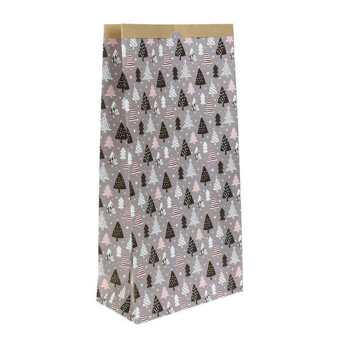 Пакет крафтовый «Ёлочки», 32 х 64 х 16 см