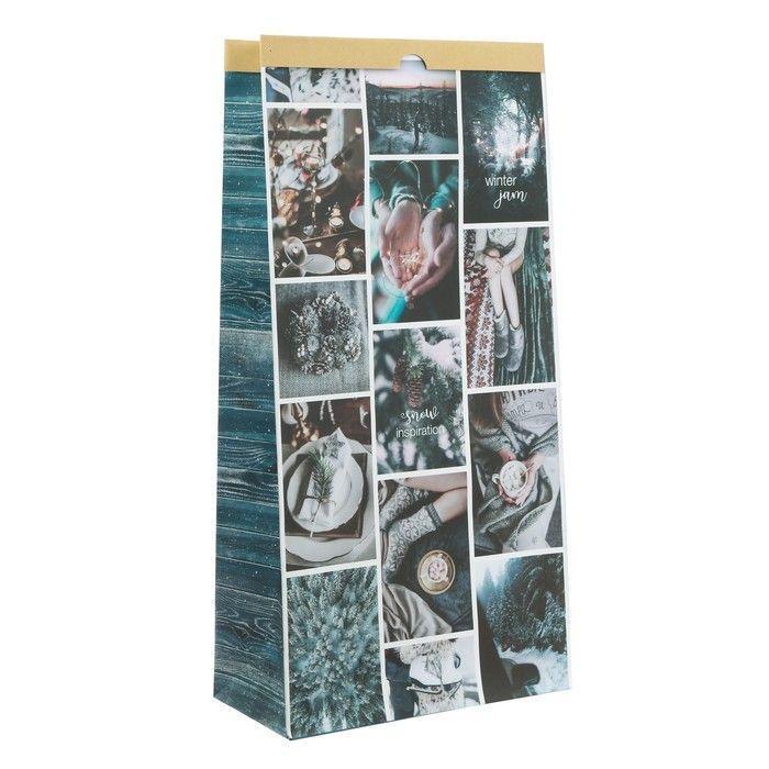 Пакет крафтовый Snow Inspiration.Winter jam, 32 х 64 х 16 см