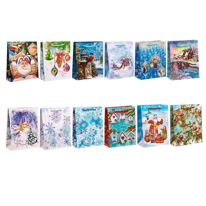 Набор пакетов«Снежная сказка», ML 27 × 23 × 8 см
