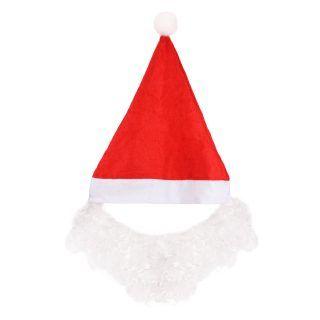Колпак новогодний с бородой 28* 35 см