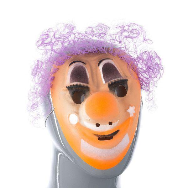 """Маска с волосами """"Клоун"""", оранжевая"""