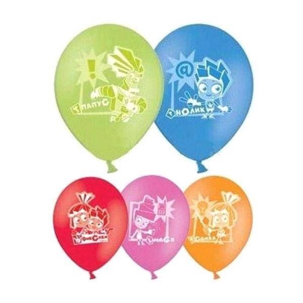 """Набор шариков """"Веселая затея"""" - Фиксики, 30 см, 5 шт."""