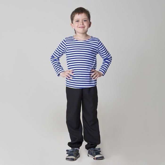 Карнавальная тельняшка-фуфайка военного детская размер 38 рост 146