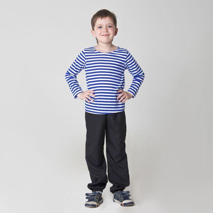 Карнавальная тельняшка-фуфайка военного детская размер 30 рост 110