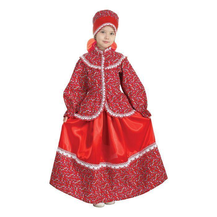 """Русский народный костюм """"Забава"""", головной убор, блуза, юбка, рост 110-116 см"""
