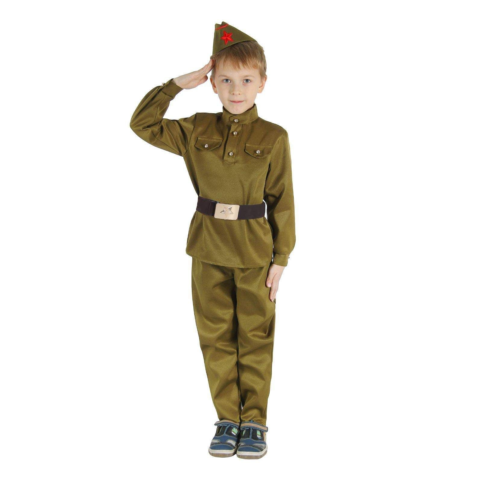 """Карнавальный костюм для мальчика """"Военный"""", 152 см"""