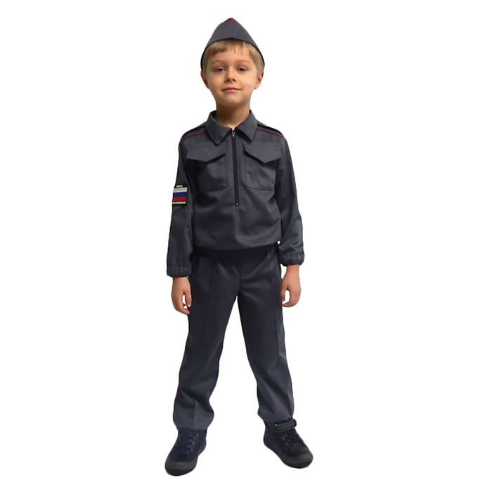 """Карнавальный костюм """"Полицейский"""" для мальчика, куртка, брюки, пилотка, р-р 38, рост 152 см"""