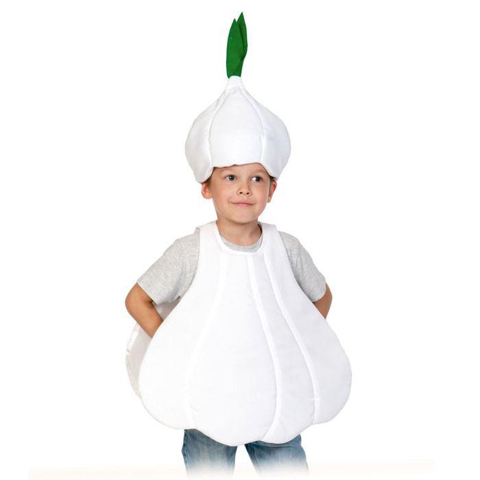 """Карнавальный костюм """"Чеснок"""" текстиль, накидка и маска-шапочка, рост 98-128 см (5236)"""
