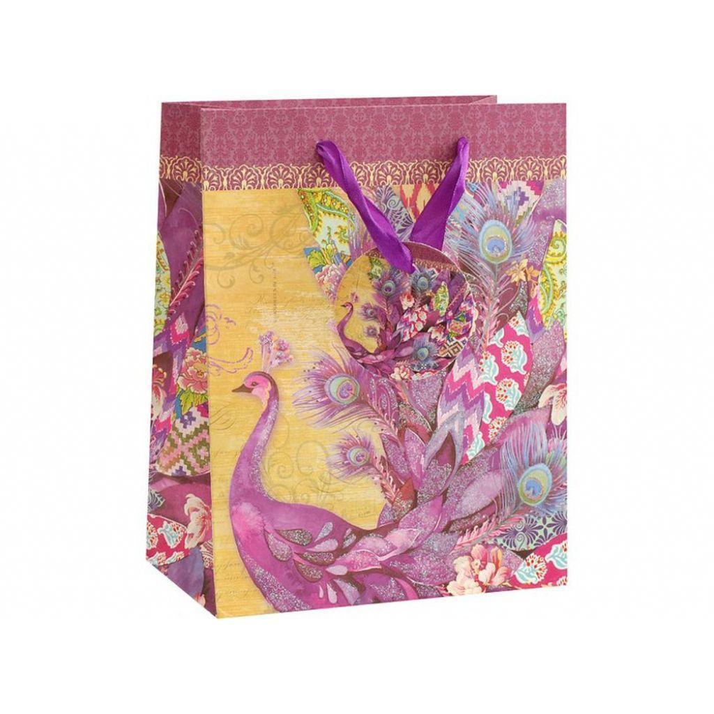 """Подарочный пакет """"Фиолетовый павлин"""""""