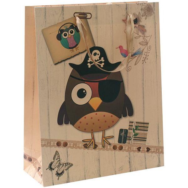 """Подарочный пакет """"Сова-пират"""""""