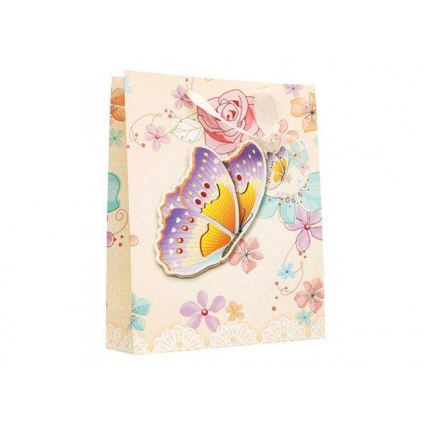 """Подарочный пакет """"Бабочка в цветах"""""""