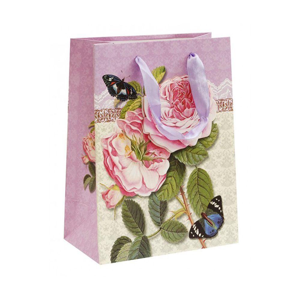 """Подарочный пакет """"Бурбонские розы"""", 18 x 23 см"""
