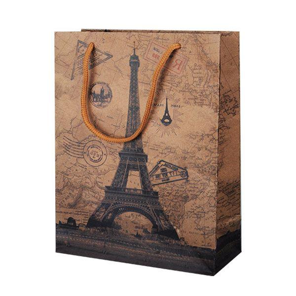 "Подарочный пакет ""Париж"", 25 х 19 см"