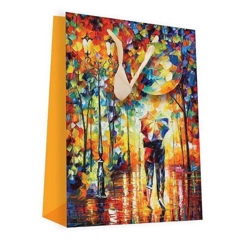 """Подарочный пакет """"Двое под зонтом"""", 18 х 24 см"""