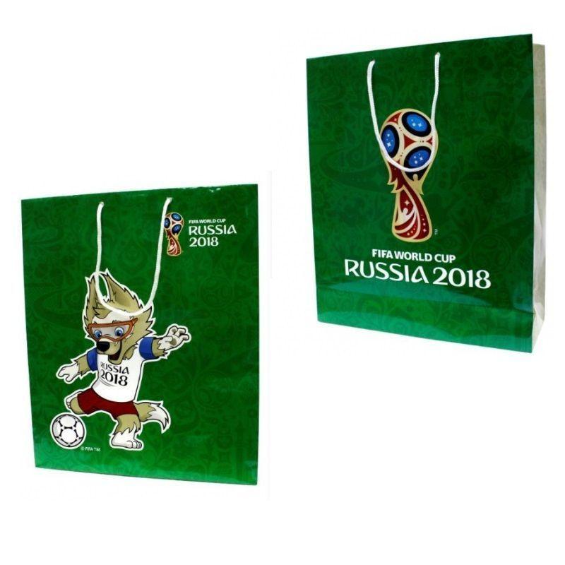 """Подарочный пакет """"ФИФА 2018"""", зеленый"""