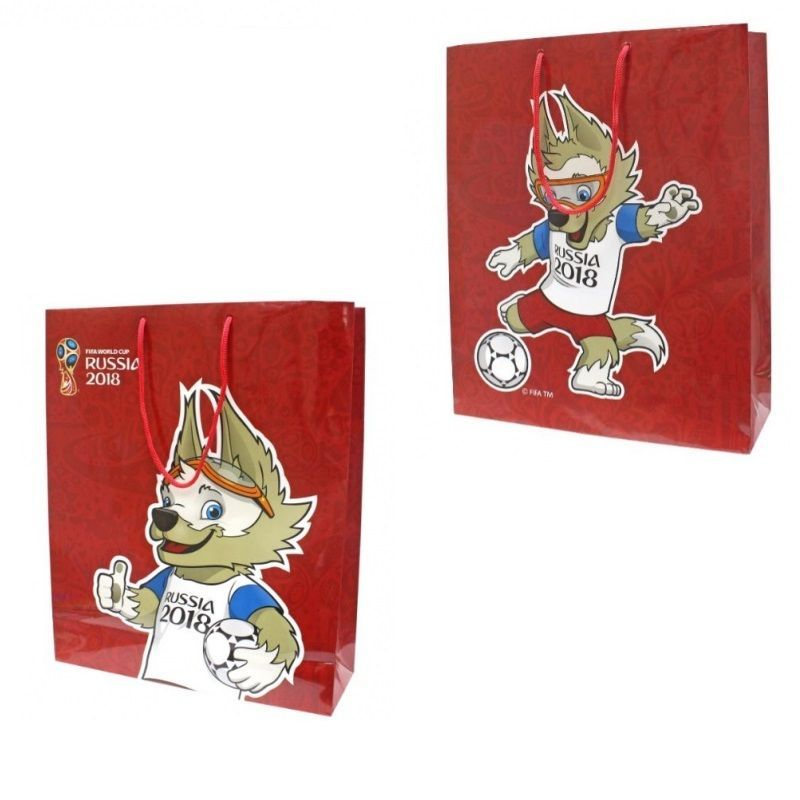 """Подарочный пакет """"ФИФА 2018"""", красный"""
