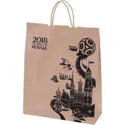 """Подарочный пакет """"ФИФА 2018"""", коричневый"""