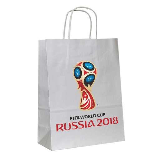 """Подарочный пакет """"ФИФА 2018"""", белый"""