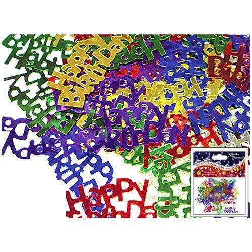 "Праздничное конфетти ""Буквы"" - Happy Birthday, разноцветное"