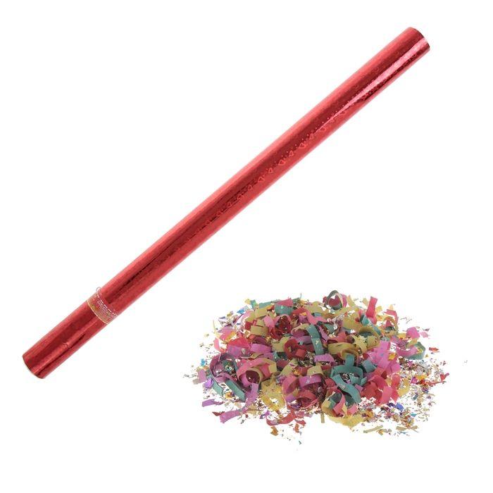 Хлопушка поворотная (конфетти, фольга, серпантин), цвета МИКС