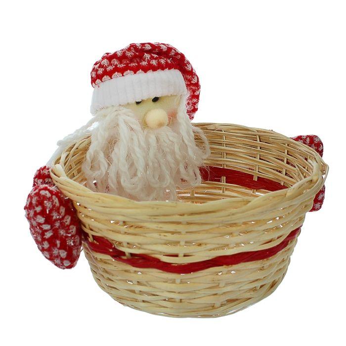 "Конфетница ""Дед мороз"" с варежками, вместимость 1000 грамм"