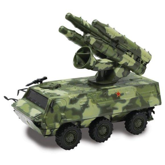 """Инерционная машина """"Зенитно-ракетный комплекс"""" (свет, звук, вращение), 1:43"""