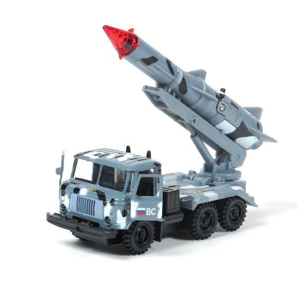 """Инерционная машина """"ГАЗ 66"""" - Военные силы (свет, звук), 1:43"""