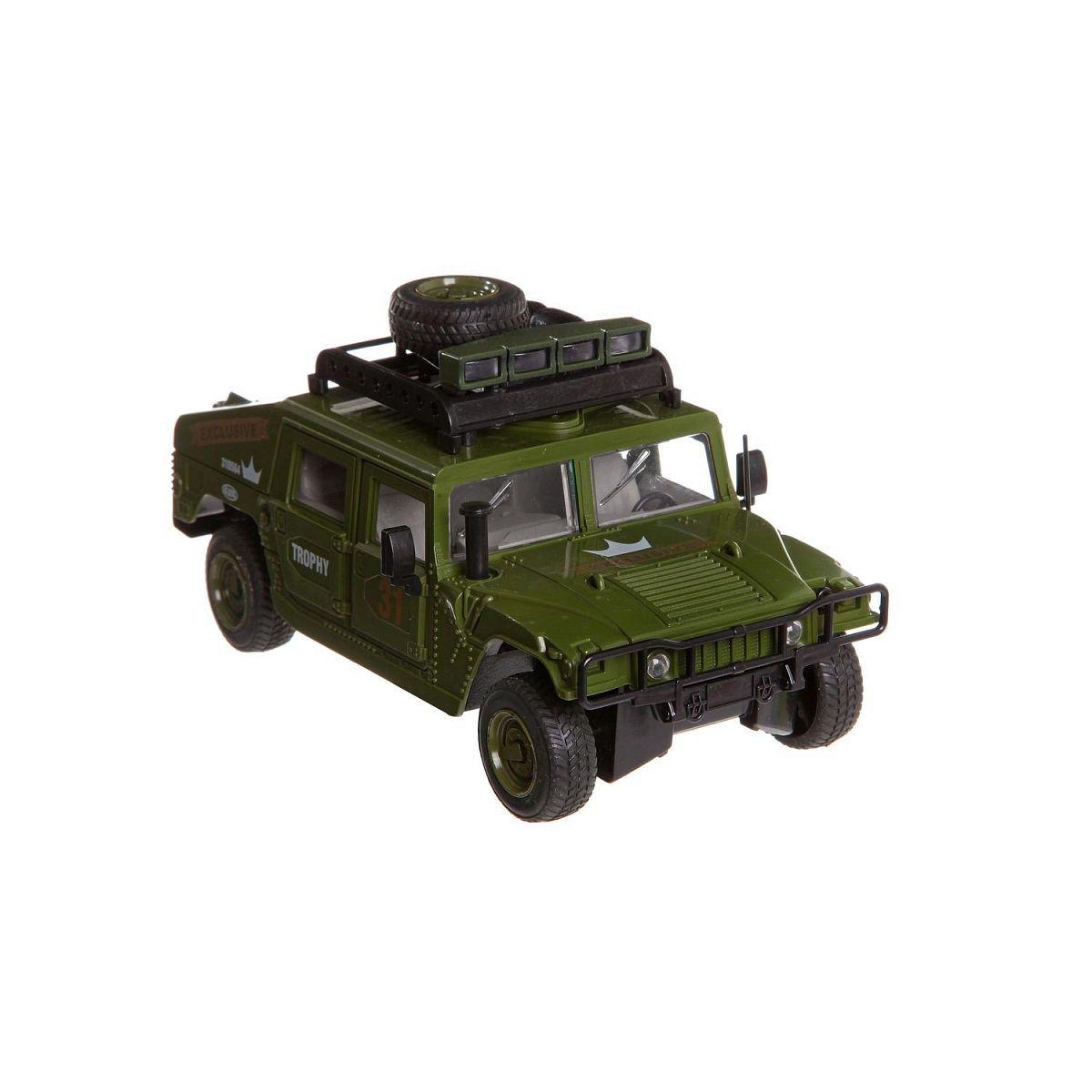 Инерционная военная машинка Hammer Trophy (свет, звук)