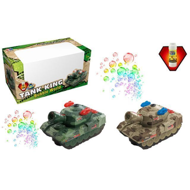 Игрушечный танк Power King (свет, звук, пускает мыльные пузыри)