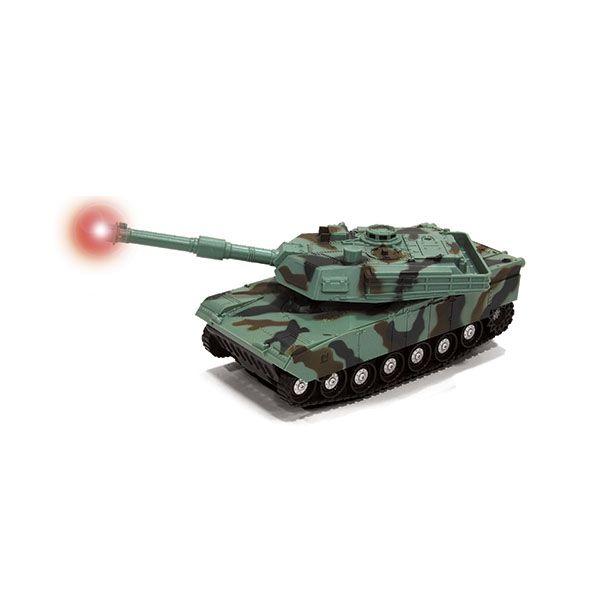 """Танк """"Военный"""" (свет, звук), зеленый, 1:32"""
