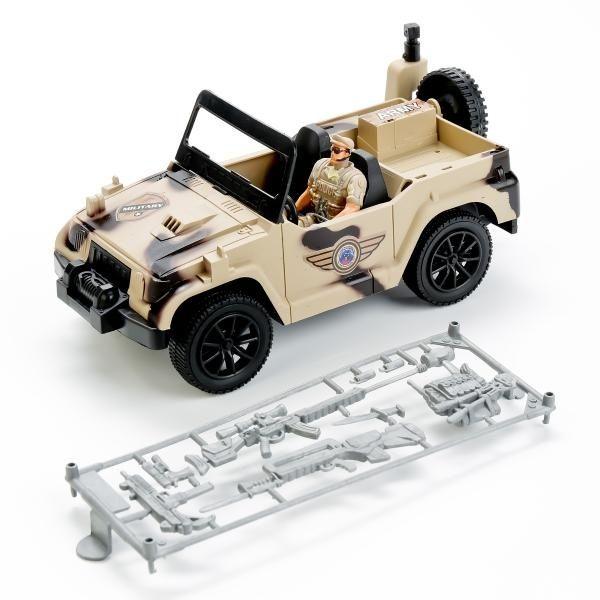 Машина Military с фигуркой и аксессуарами (свет, звук)