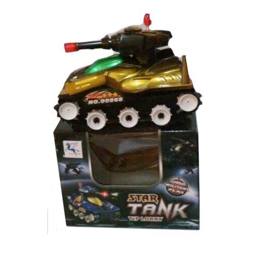 Электромеханический танк Star Tank (свет, звук), золотистый