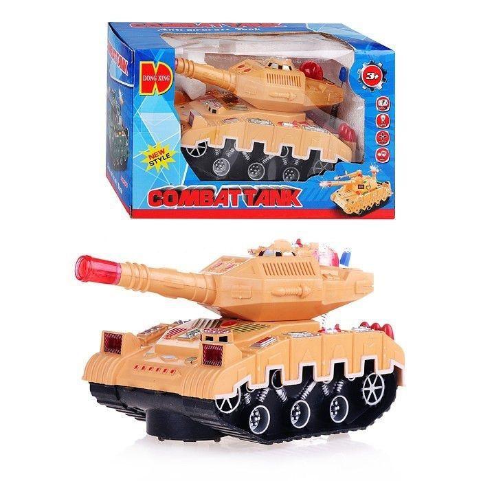 Игрушечный танк Combat Tank (на бат., свет, звук)