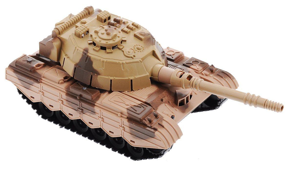 """Боевой танк """"Восточный фронт"""" (свет, звук), светло-коричневый"""