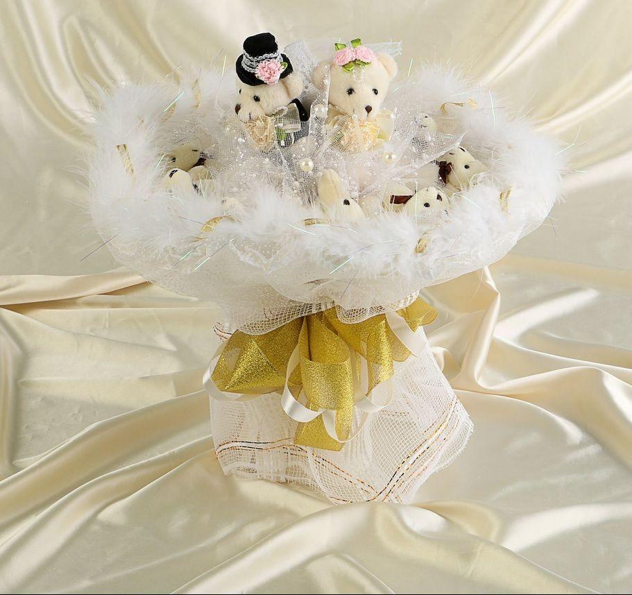 """Свадебный букет из игрушек """"Блистательное событие"""""""