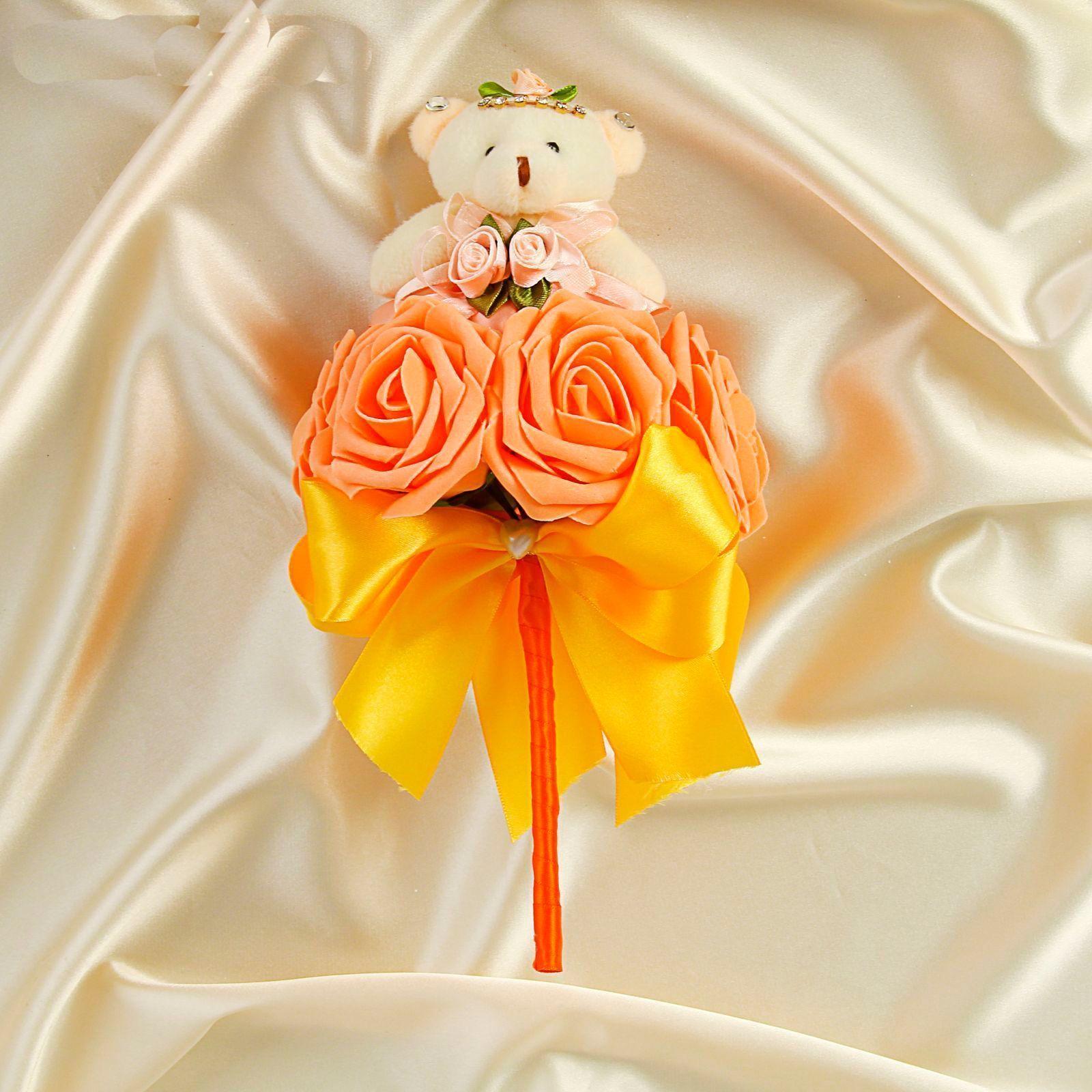 """Букет из игрушек """"Дюймовочка"""", оранжевый"""