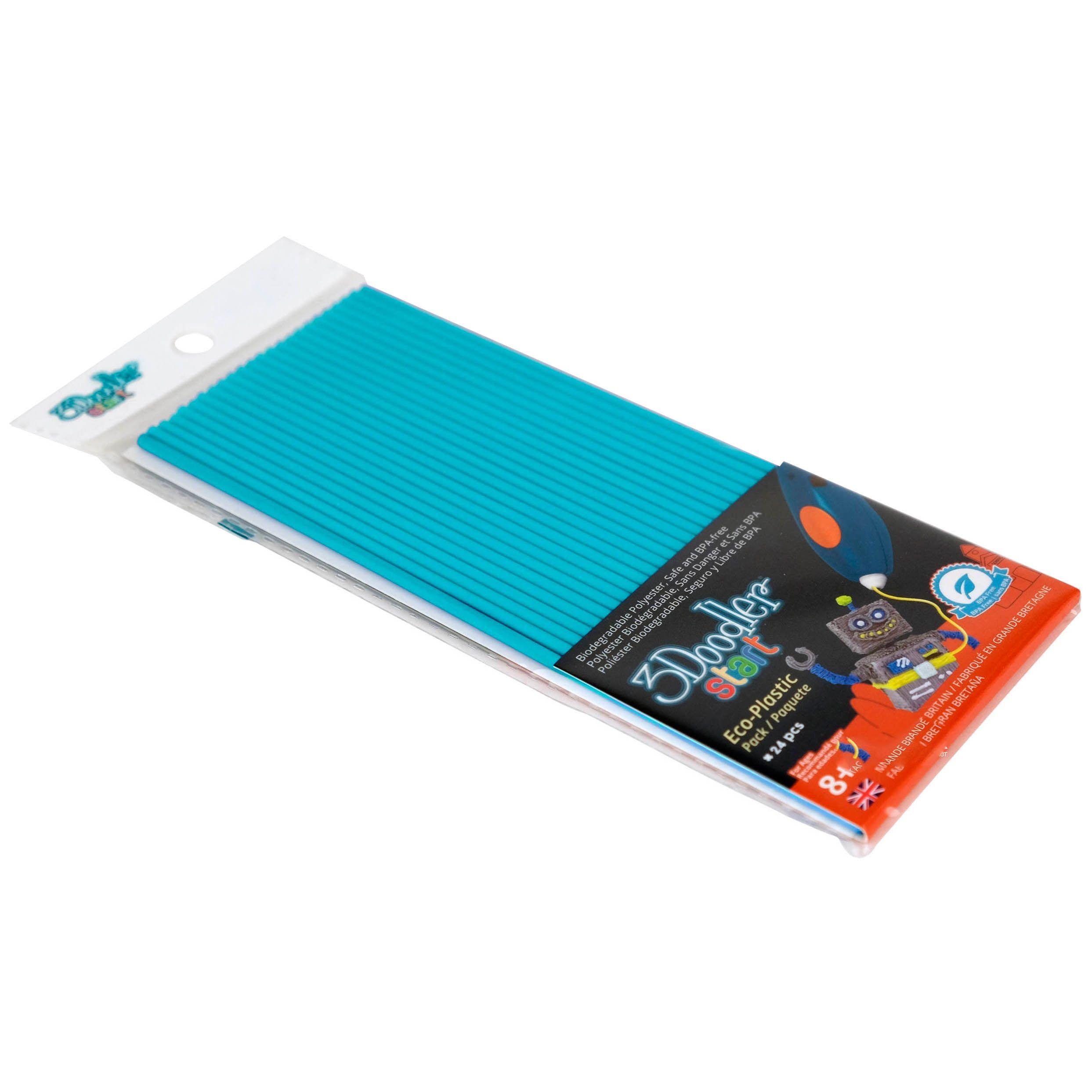 Стержни для 3D-ручки 3Doodler Start, синие, 24 шт.