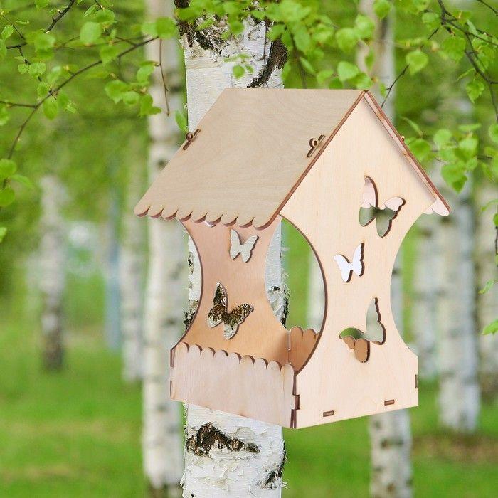 """Кормушка для птиц """"Бабочки"""", 15×16×24 см"""