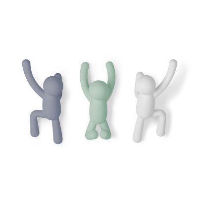 Вешалки-крючки buddy 3 шт. разноцветные мятные